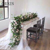 80cm Hochzeitsdekoration künstliche Blume Reihe Mori Hochzeit Bogen Hintergrund Wand Straße führt Blume zu Hause Weihnachten Schaufensterauslage
