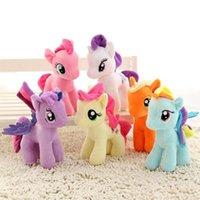 20см мультфильм единорог плюшевые кукла дети радуги маленькие лошади мягкие чучела животных игрушка Unicorn кукла вечеринка польза 6 цветов
