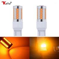 Lumières de secours KATUR 2PCS T20 7443 Ampoules LED pour voitures Frein / Arrêt Ambre / Orange Éclairage blanc rouge 5630 33SMD Lampes Dual Contact1