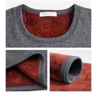 Underwear térmica de Nova Homens Long Mulheres Winter João homens térmicas shirt + calças Set Quente de lã grossa Tamanho L-XXXL
