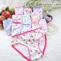 10Pcs Lot Cotton Panties Children Underwear Child Cartoon Shorts Underpants Girl Briefs 1-12Years