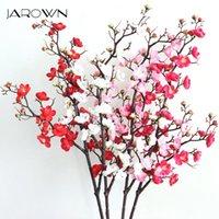 Jarown Artificiale Long Branch Plum Blossom Simulazione Silk Peach Blossom per decorazione di nozze Accessorio Decorazione per ufficio