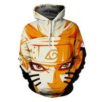 Karikatür Karakterler Uzumaki Naruto / Sasuke 3D Anime Hoodie Kazak Erkek Kadın Uzun Kollu Giyim Rahat Kazaklar Ceket Y200704