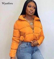 Wjustforu обрезанный вагунка для женщин-стритюна теплые парки вниз толстого пузыря пальто пара носить короткую пиджак тура одежда1