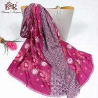 Scarves 2021 verão mulheres de algodão cachecol bohemia flor praia hijab xales e envolve feminino fashion floral echarpe designer bandana
