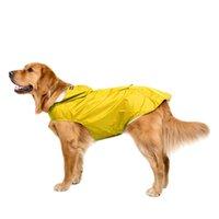 كبير الكلب المعطف للماء شبكة عاكسة مقنعين الحيوانات الأليفة الملابس المطر المسترداد الكلاب الملابس الاكسسوارات الأزياء الساخن بيع 33DT G2
