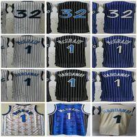 Retro Vintage Classic Orlando Tracy # 1 McGrady Basketball Jersey blau weiß schwarz # 32 Großhandel NCAA College Magic Penny 1 Hardaway Trikots