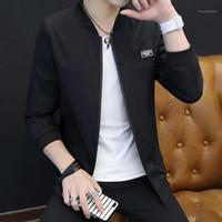 Lingdeng 2020 marca vestuário zipper windbreaker jaqueta masculino outwear homens bombardeiro jaqueta slim manga longa jaquetas de beisebol1