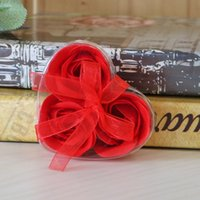 Valentinstag Weihnachtseife Blume Simulation 3 2 Schicht herzförmige Seifenblume Valentinstag Geschenk Party Kleine GIF 84 J2