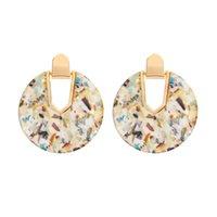 Dangle Chandelier 2021 Boho Round Pearl Shell Earring Girls Moda Colorful Abalone Dichiarazione di Dichiarazione Gioielli per le donne Regalo del partito estivo