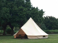 Grntamn Light Khaki للماء القطن قماش 4M جرس خيمة التخييم 10 الأسرة التخييم yurt tent1