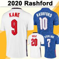 2020 Kane Rashford Mens 축구 유니폼 새로운 Sterling Gomez 홈 멀리 축구 셔츠 Dele Maddison Trippier 장미 짧은 성인 유니폼