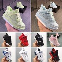 Nouveau 4 enfants Chaussures de basket-ball enfants Chaussures de sport en plein air Gym Red Chicago 4s Baskets de filles d'athlétisme de luxe de luxe EUR 28-35
