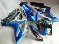Body For SUZUKI GSX R600 GSX-R750 GSXR-600 GSXR600 06-07 GSX R750 GSXR 600 750 K6 GSXR750 2006 2007 Fairing kit New Factory blue black AD144