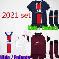 Maillots de kits de futebol 20 21 Soccer Jersey 2020 2021 Mbappé ICARDI Neymar camisa JR homens crianças conjuntos de uniformes maillot de hommes pé enfants