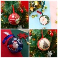 Nueva llegada Caja de regalo de Navidad Bola de hierro de Navidad Bola redonda Caja de caramelo Invitados Cajas de embalaje Regalo Fiesta de Navidad Favores VT2002