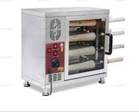 Máquina de fabricante de cono de chimenea de helado eléctrico de envío gratis; Máquina de barbacoa de pan / fabricante de gofres de chimenea