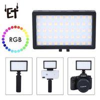 Lampeggia la fotocamera RGB portatile ET flash w / freddo Universal LED video su Colore PO regolabile Easy install studio
