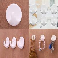 Plásticos Força Pessoas Ganchos Decoração Diária Necessidades Diárias Gancho Reutilizável Venda Quente Com Cor Branco 0 18qy J1
