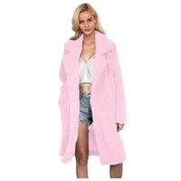 Livre Avestruz Fur Coats Mulheres Moda manga comprida Casacos Além disso Outono e Inverno Jacket tamanho das mulheres Feminino