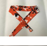 freies Verschiffen Krawatte Digital camo Stirnband kuba Puerto Rico TIE BACK -STIRNBÄNDER Schweißband moisure Wicking Workout Übungs-Sport-Band 50 Farbe