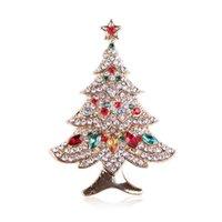 Kadınlar Rhinestones Noel Broşlar Kış Ağacı Hayvan Broş Pins için Noel Broş Hediyeleri