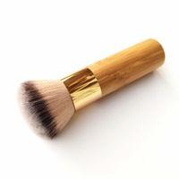 العازلة البخاخة الانتهاء من Bamboo Foundation Makeup Brush - كثيفة لينة الاصطناعية الشعر الاصطناعية تشطيب الجمال تجميل أداة فرشاة