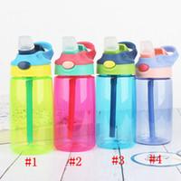16oz miúdos garrafa de água copo de água BPA livre plástico plástico vazamento à prova de água esporte garrafas de água com vazamento de linho vazamento de vazamento caneca Mar Way RRF4218