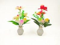 튤립 LED 조명 컨트롤 램프 꽃 리프 꽃병 플러그 조명 따뜻한 글로우 램프 파티 홈 유도 전기 새로운 2 5LJA N2