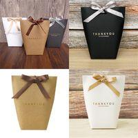 Спасибо подарки обертывающие сумка крафт бумага черный белый 3 цвета конфеты ювелирные изделия игрушечная упаковочная коробка фестиваль присутствует сумка для хранения 0 59LE L2