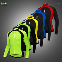 Wosawe Erkek Nefes Yansıtıcı Bisiklet Ceketler Döngüsü Yelek Rüzgar Bisiklet MTB Bisiklet Giymek Uzun Kollu Binme Rüzgarlık1