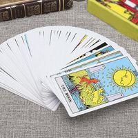 بطاقة كتاب مكتب 78Pcs / مجموعة التارو مجلس لعبة الطاولة دليل أوراكل التكهن ورقة لعبة لعبة الصفحة الرئيسية