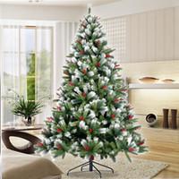 7.5ft الولايات المتحدة STOCK سنو متجمع شجرة عيد الميلاد الاصطناعية متمحور شجرة الصنوبر مع الأبيض واقعية نصائح مظلمة W49819948