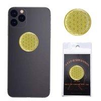أحدث تصميم 5 جرام مكافحة الإشعاع جولة الذهبي ملصقا 3000cc صحة حامي ضد EMF الهاتف المحمول ملصقا