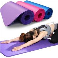 US-amerikanische Aktien, 3-6 Tage Lieferung NBR YOGA MATS Übung Pad verlieren Gewicht Feste Farbe Indoor Outdoor Sport Gesundheit 183 * 61cm Yoga-Blanket FY6016
