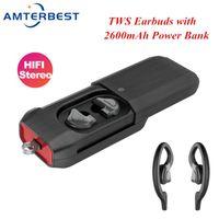 Cuffie Auricolari Amter Q9 TWS Auricolare Bluetooth wireless con auricolare di carica per telefono cellulare HD stereo per smartphone
