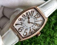 Mens Super V5 AB Factory 최고 품질 ETA 7500 로즈 골드 다이얼 다이아몬드 아랍어 숫자 운동 스포츠 시계