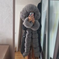 OFTBUY X-long Parka Waterproof Outerwear Real Fur Coat Winter Jacket Women Natural Fox Fur Hood Luxury Outerwear Detachable New 201016