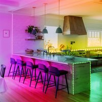 Plastic 300-LED SMD3528 24W RGB IR44 Light Strip Set con control remoto IR Controller (lámpara blanca Plate)
