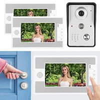 mirilla numérique 7po Wired vidéo Intercom 2 Sonnette Moniteurs TFT écran de vision nocturne système d'accès intelligent 100-240 sonnette de porte vidéo