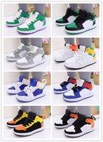 Kids High Top AJS 1 Обувь Родитель-Детский Фонд Кампания Баскетбольные Обувь Мальчики Девочки Дети Ходьба Кроссовки Размер 22-39