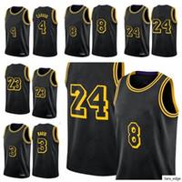 2021 Los Angeleses 23 König LBJ Basketball Jersey Alex Caruso Black Mamba Jerseys Anthony Kyle Davis Kuzma Retro Neue Stadt Uniform Vintage