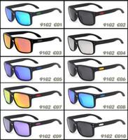 مصمم النظارات الشمسية الرجال العلامة التجارية النظارات الشمسية الاستقطاب OO9102 الكلاسيكية uv حماية الرياضة في الهواء الطلق ركوب النظارات الشمسية مع القضية