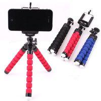 360 rotation flexible sponge stativ faule handy halter clips bracket selfie stand montage monopod kamera dv halter für iphone selfie clip