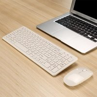 Simples Mini Teclado Sem Fio Ultra-Slim Mini Kit de Combo Sem Fio para PC Desktop Loptop CLASSIC OFFICE