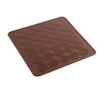 30 orificio 48 orificio de silicona almohadilla de horno macarrón macarrón de silicona sin palmada para hornear pastelería pastel de pastelería herramientas para hornear