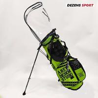 estrenar de la manera estándar de bola carrito carro materia trípode del soporte de la bolsa de golf dos tapas 201112