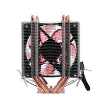 Fanlar Soğutma CPU Soğutucu Fan Soğutucu 4 Isı borusu 2 Sessiz Radyatör Desteği 775 / 115X / AMD LED Mavi Işık için