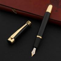 Brunnenstifte Luxus Hohe Qualität Marke Hero 9018 Stift Schwarz Goldene 0,7mm Frue Biegung Kalligraphie NIB Schreibwaren Bürobedarf