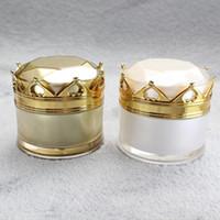 Svuotare 10g 15g 20g acrilico Corona Vaso packaging cosmetico Vasi Pot trucco dell'occhio Ombretto in crema Nail Powder contenitore di imballaggio